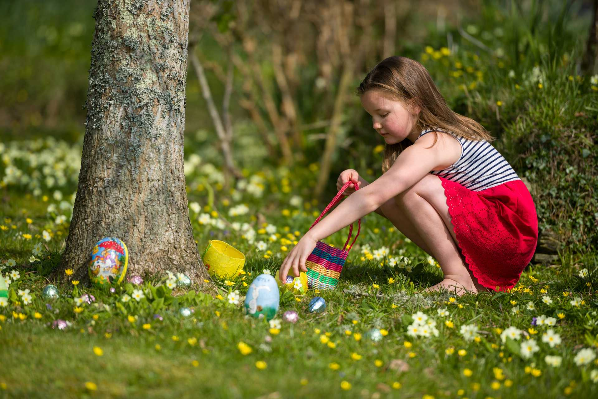 An Easter Egg Hunt in the grounds of the Calamansac Estate
