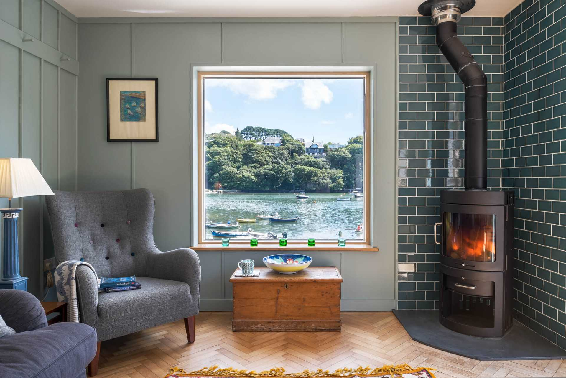 Sea view holiday home overlooking the Helford River in Falmouth